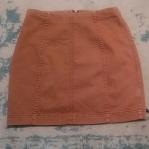 Tan Free People Skirt